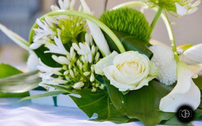 Mariage à Colomiers, Fleurs