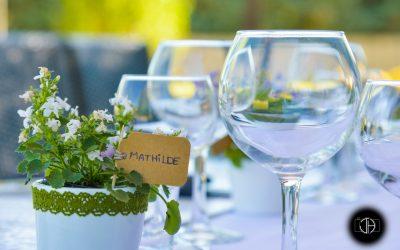 Décoration de table, Mariage à Pibrac