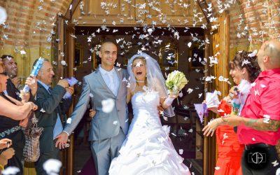 Mariage en Haute-Garonne, église d'Aussonne