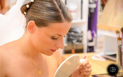 Préparation de la mariée, Maquillage