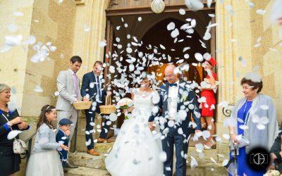 Mariage à l'église de Castelnau-Barbarens, Gers