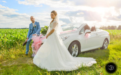 Photographe mariage Toulouse, photo contre jour