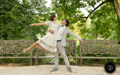 Danseurs de ballet, Photographie de mariage, Jardin Royal, Toulouse