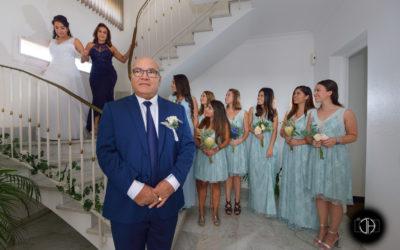 Photographe mariage Toulouse, Père de la mariée la découvre