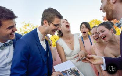 Photo mariage Gers, surprise des amis des mariés