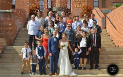 Photo groupe mariage mairie Muret