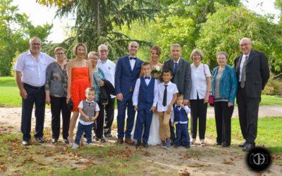 Photo groupe mariage parc Muret