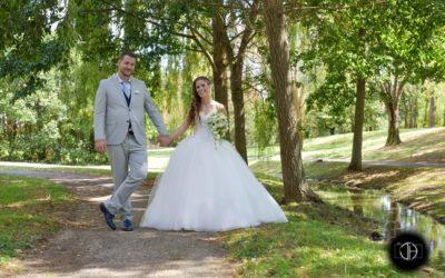 Photo couple mariage parc Odyssud Blagnac
