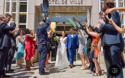 Mariage à Colomiers, sortie de la mairie