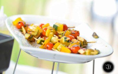 Brochette de légumes, Cocktail de mariage végan