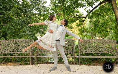 Couple danseurs, photo mariage, Jardin Royal, Toulouse