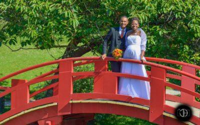 Petit pont du Jardin Japonnais, Photo de mariage à Toulouse