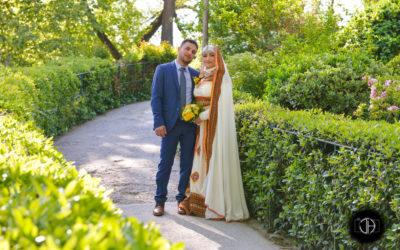 Photo de mariage au printemps, grand rond, Toulouse
